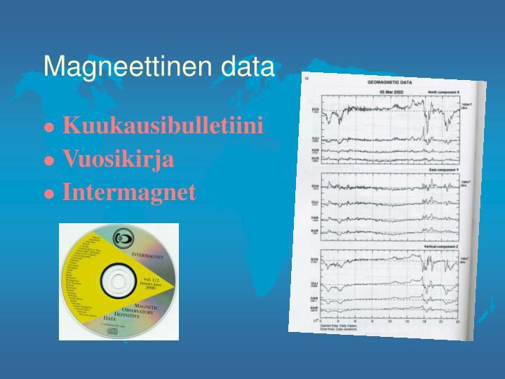 Magneettinen data