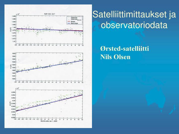 Satelliittimittaukset ja observatoriodata