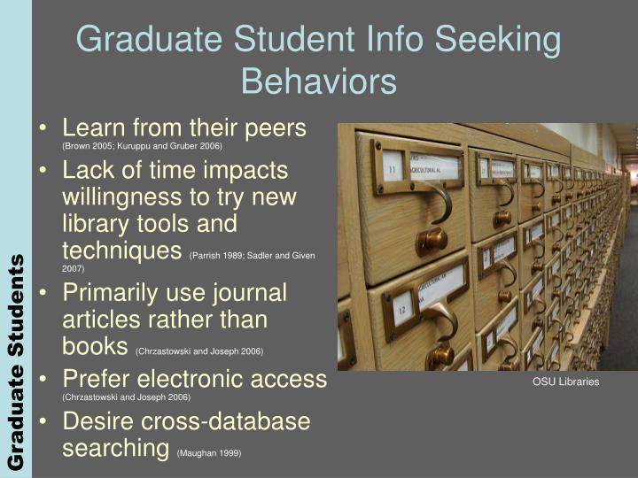 Graduate Student Info Seeking Behaviors