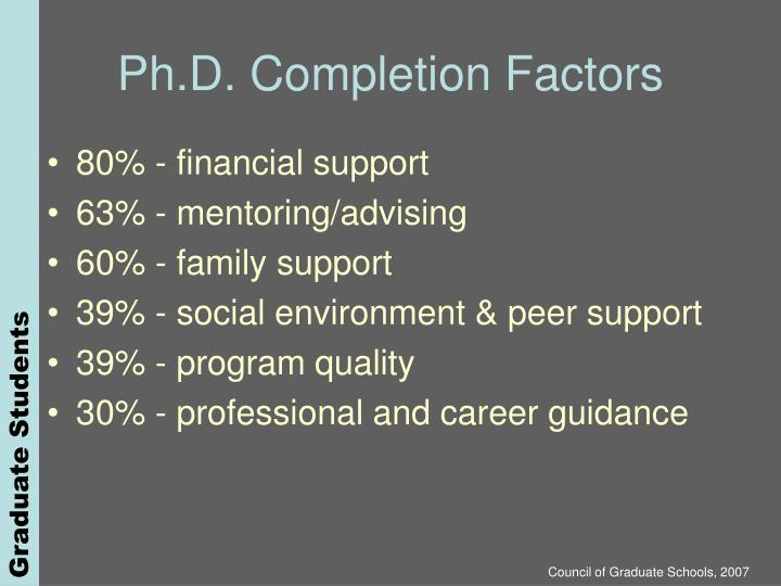 Ph.D. Completion Factors