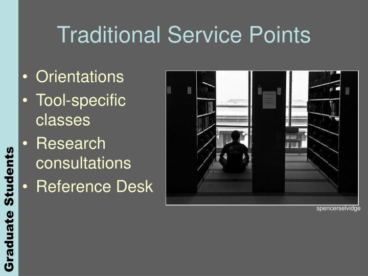Traditional Service Points