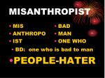 misanthropist