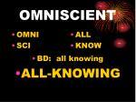 omniscient