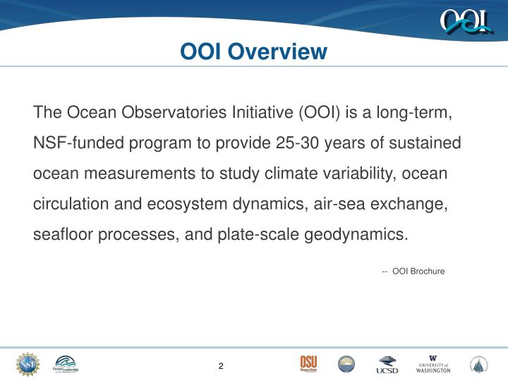 Ooi overview