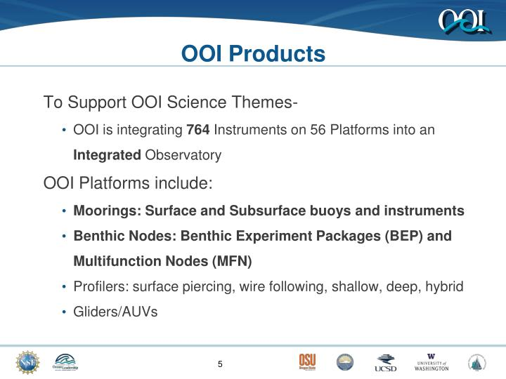 OOI Products