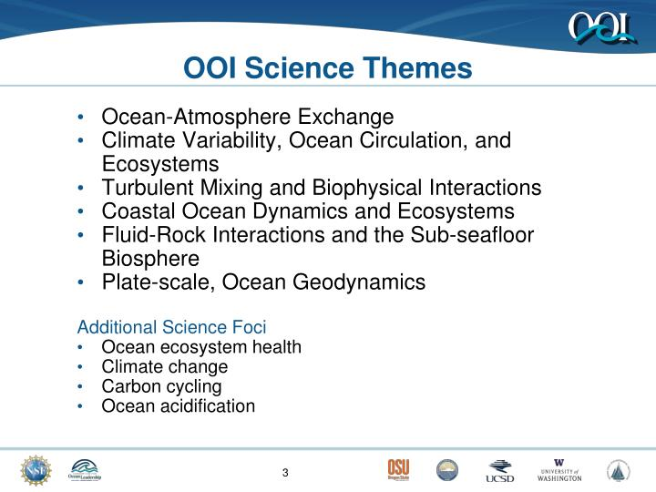 Ooi science themes