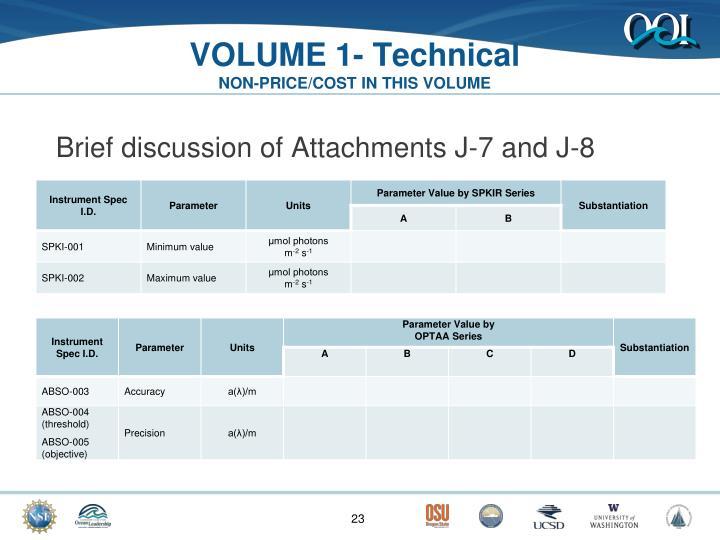 VOLUME 1- Technical