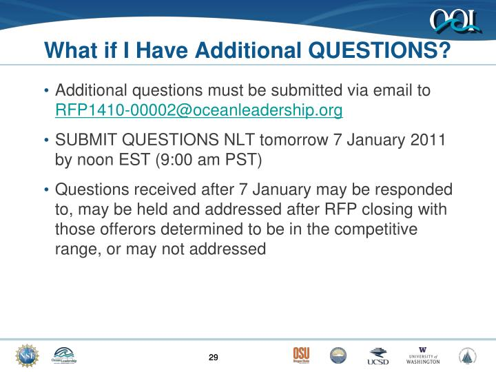 What if I Have Additional QUESTIONS?