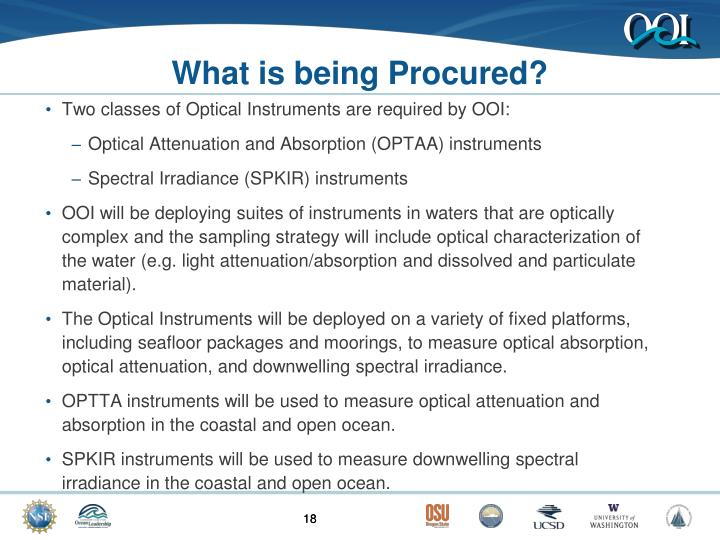 What is being Procured?