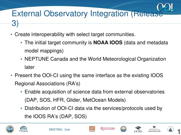 Create interoperability with select target communities.
