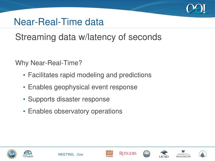 Near-Real-Time data