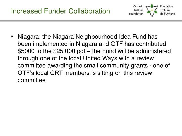 Increased Funder Collaboration
