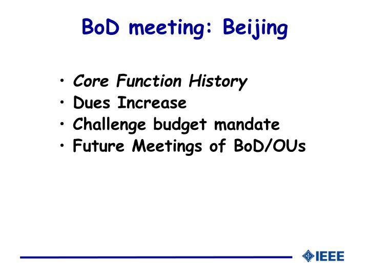 Bod meeting beijing