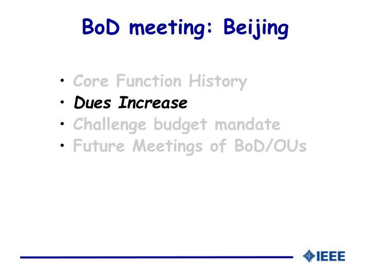 BoD meeting: Beijing