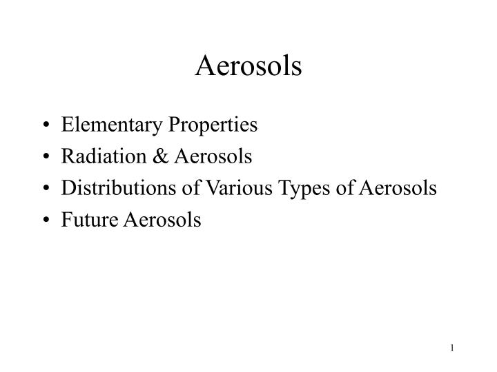aerosols n.