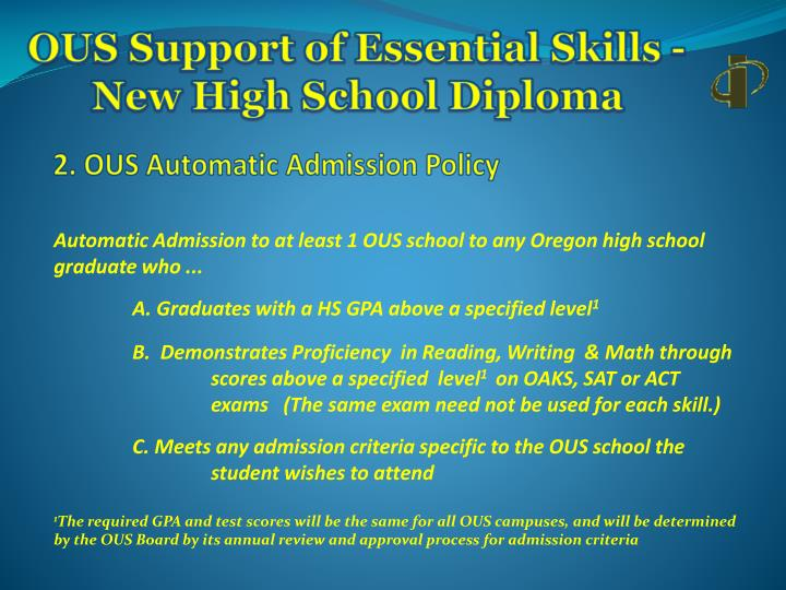 Ous support of essential skills new high school diploma2