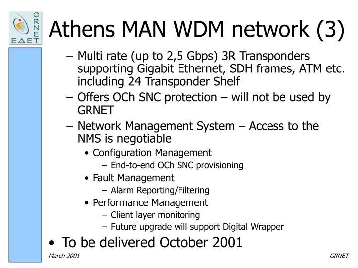 Athens MAN WDM network (3)