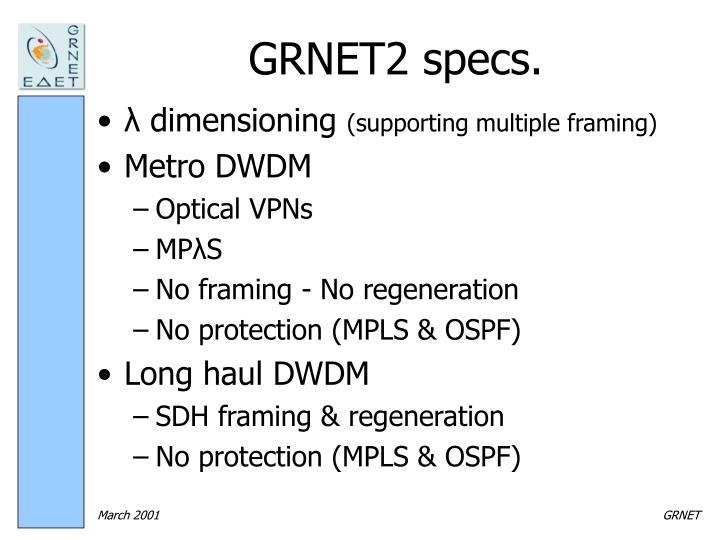 GRNET2 specs.