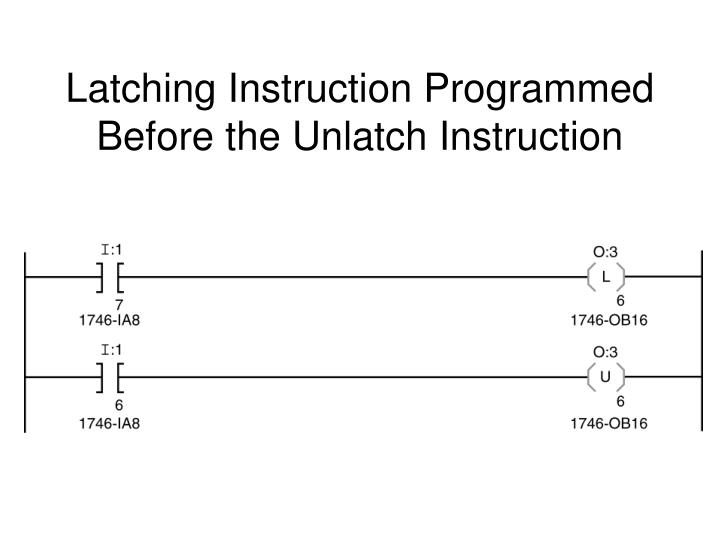 Latching Instruction Programmed Before the Unlatch Instruction