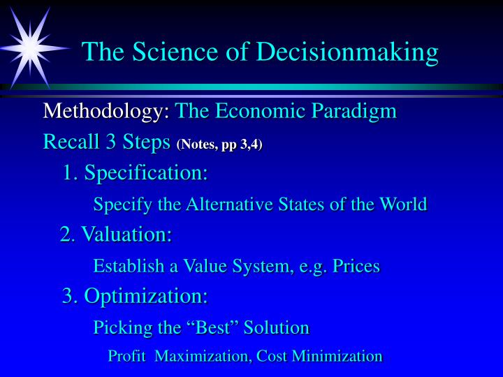 The science of decisionmaking