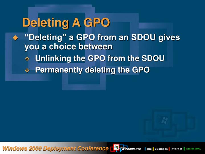 Deleting A GPO