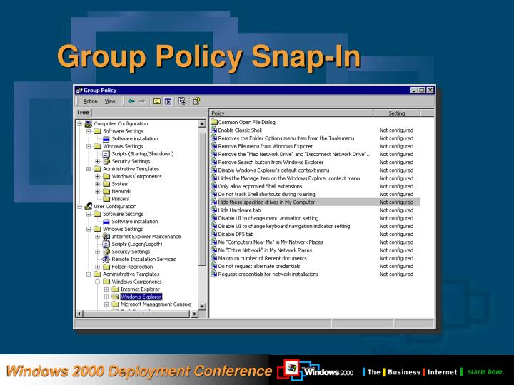 Group Policy Snap-In