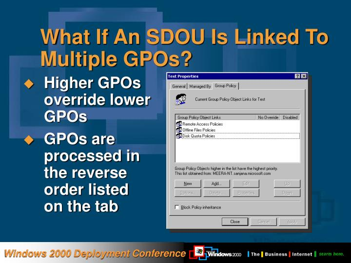 What If An SDOU Is Linked To Multiple GPOs?