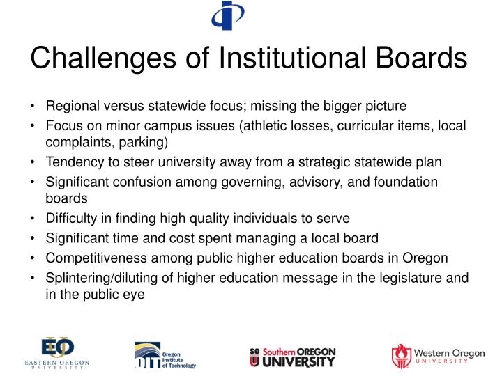 Challenges of Institutional Boards