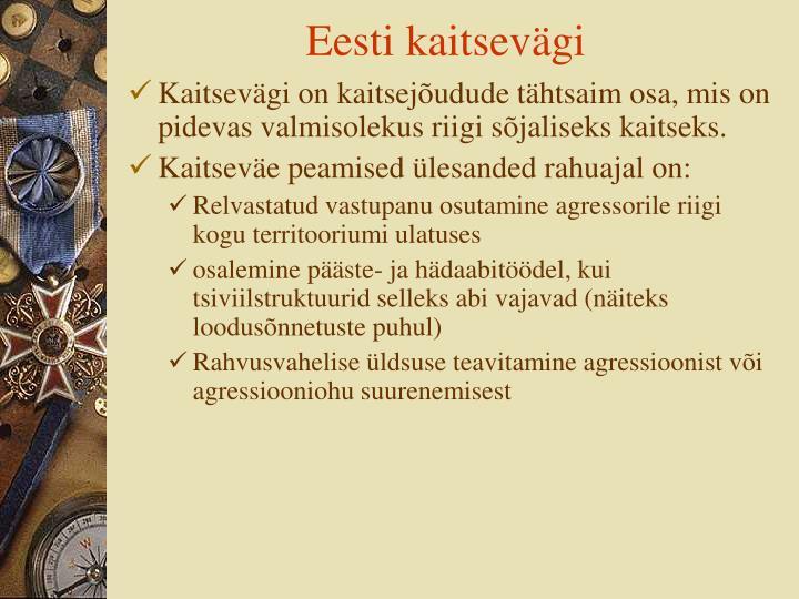 Eesti kaitsevägi