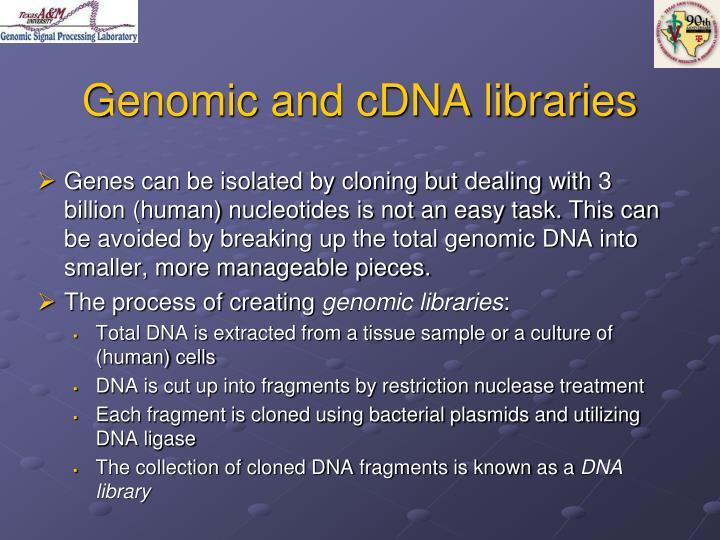Genomic and cdna libraries