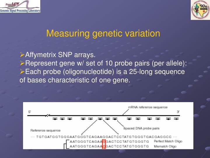 Measuring genetic variation