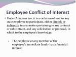employee conflict of interest