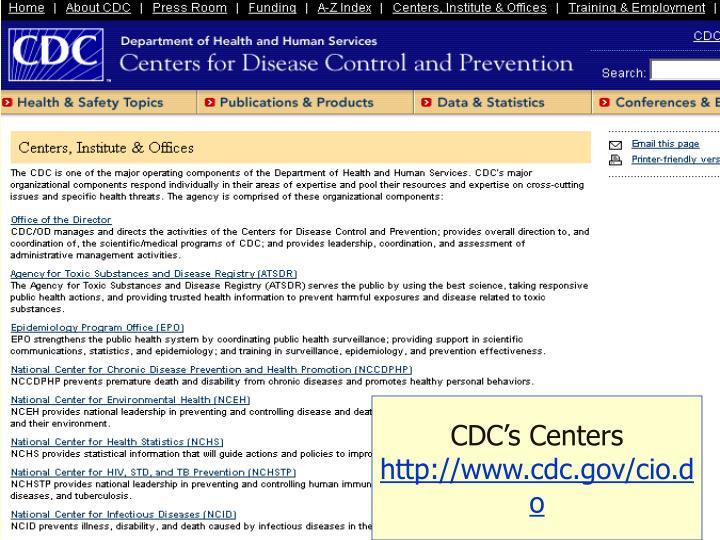 CDC's Centers