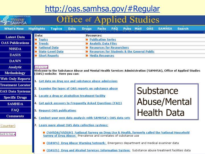 http://oas.samhsa.gov/#Regular