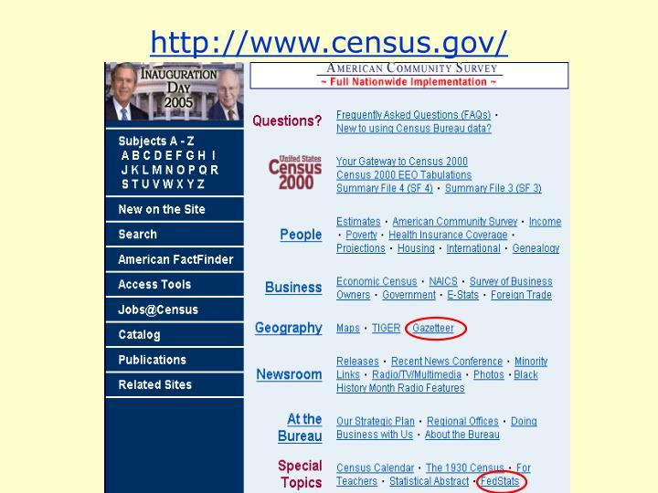 http://www.census.gov/