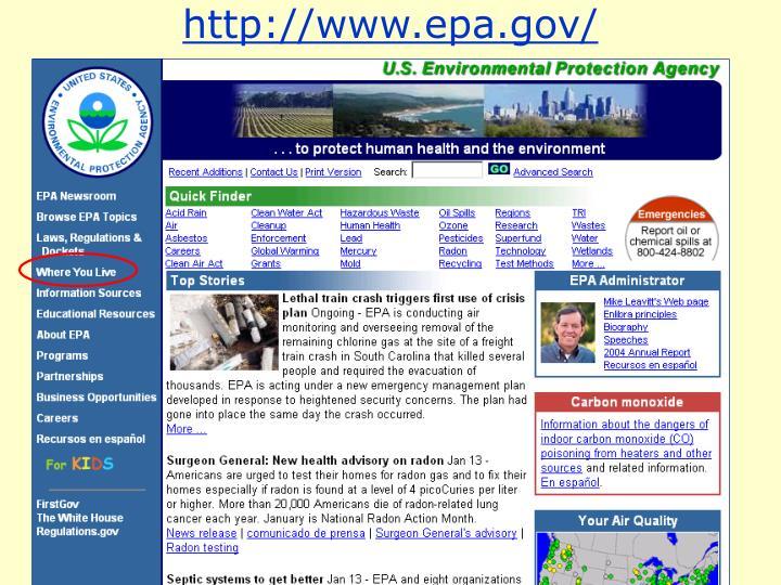 http://www.epa.gov/