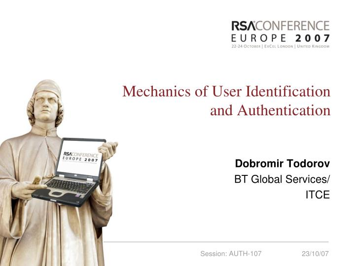 mechanics of user identification and authentication n.