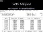 factor analysis i