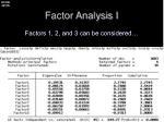 factor analysis i2