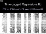 time lagged regressions iib1