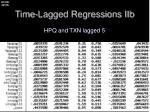 time lagged regressions iib3