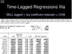 time lagged regressions iiia