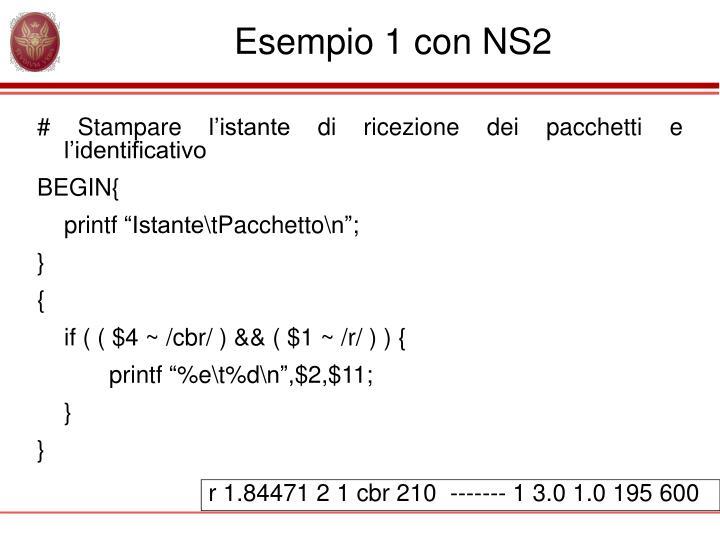 Esempio 1 con NS2