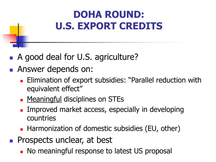 DOHA ROUND: