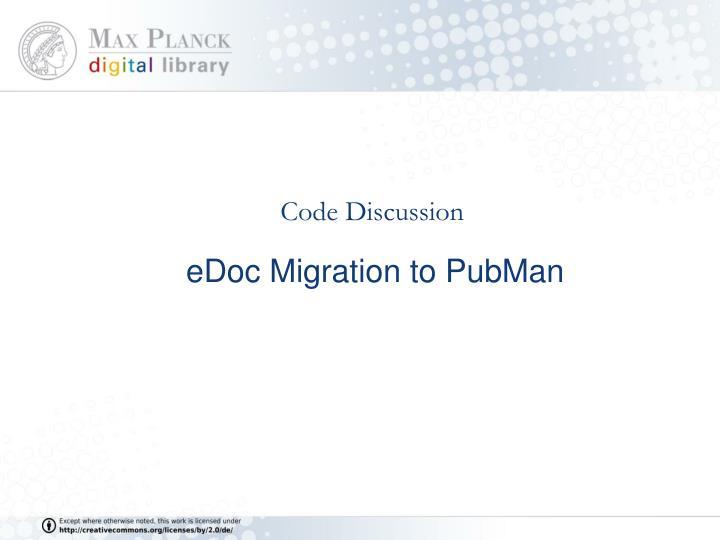 edoc migration to pubman n.