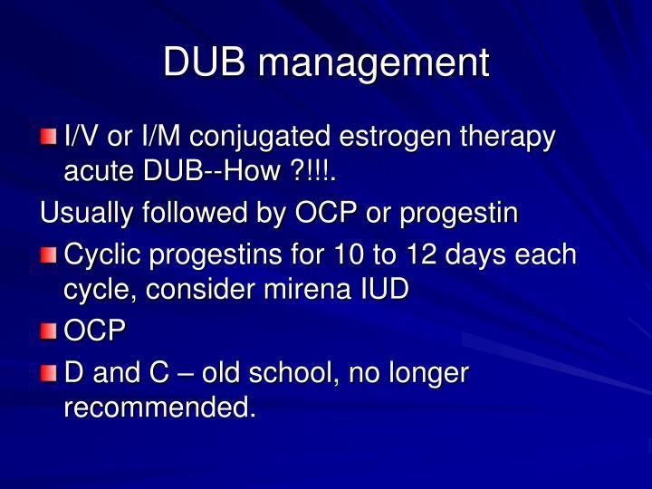 DUB management
