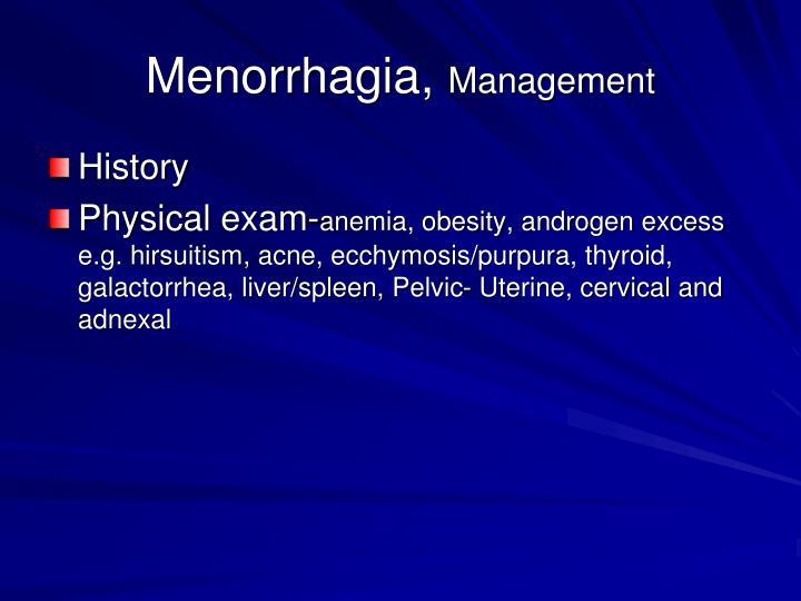 Menorrhagia,