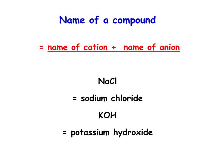 Name of a compound