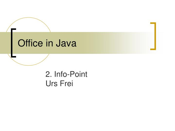 Office in java