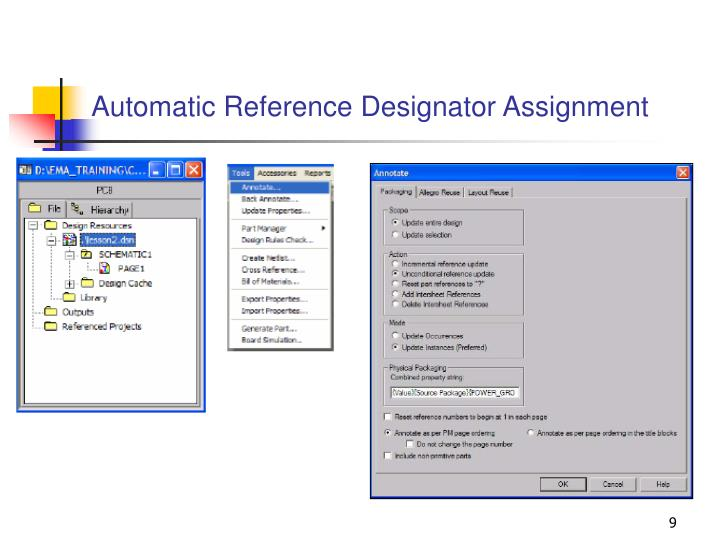 Automatic Reference Designator Assignment